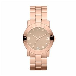 """Marc Jacobs """"Amy"""" Rosegold Watch"""